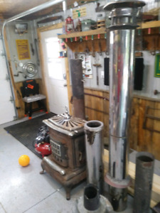 Woodstove and insulated pipe