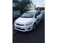 2011 Toyota Auris Hybrid 1.8 5 door fresh taxi private hire plated car