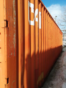 Storage container for rent in a secured yard - 40 feet high cube