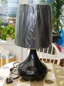 John Lewis black lamp.