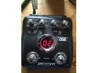 Zoom guitar effects pedal G2
