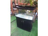3ft fish tank with stand, filter, heater, lights