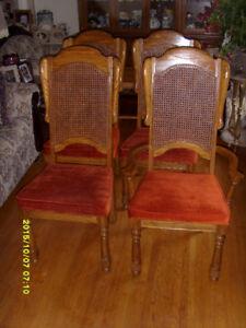 Furniture OAK HIGH BACK WING CHAIR - $200