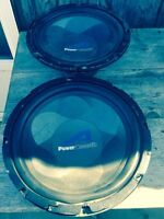 "Pair of 12"" woofer and AMPs"