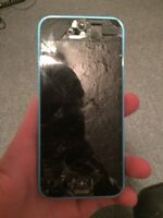 iPhone 5c works needs screen trade for iPod don't care gen