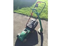 Qualcast electric lawnmower and strimmer set