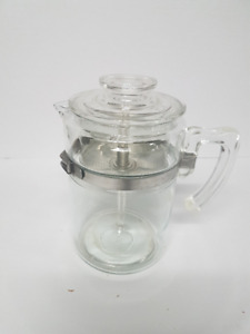 Pyrex 1940's Flameware Percolator