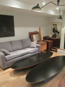 "Original MCM Eames ""Surfboard"" Coffee Table"