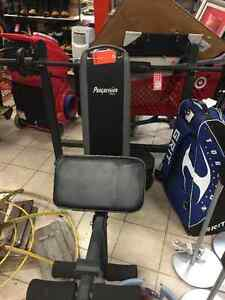 PROGRESSION BOWFLEX EXCERCISE BENCH WITH THE BAR