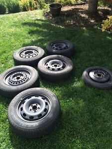 4 Winter Tires, Two Spares Chevy/GMC