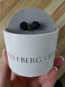 Bermuda blue hillberg and berk sparkle ball earrings