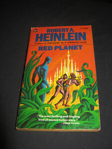 "vintage Sci-fi ROBERT A. HEINLEIN *RED PLANET ""1971"" PB"