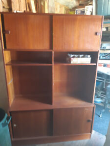 MId Century Modern Domino Sectional Bookcase