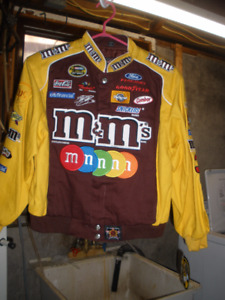 New childs xlg m&ms ( #38 Kyle Bush ) jacket never warn