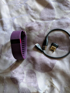 Fitbit Charge HR with purple band