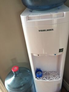 Water cooler with two water jugs