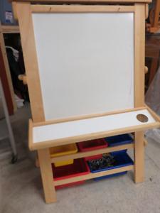 Tableau chevalet bois pour craie et peinture