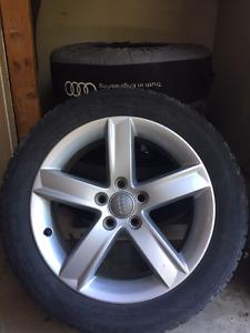 """17"""" Audi Wheels & Nokian Hakkapeliitta R2 tires"""