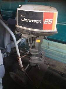 Johnson 25hp Outboard Motor Echuca Campaspe Area Preview