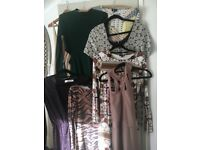 Bundle of 8 dresses top shop mainly 2 river island size small/10 some unworn