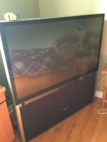 "Free Toshiba 52"" projection tv"