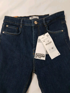 ZARA authentic denim by TRF - brand new,, never worn tags on