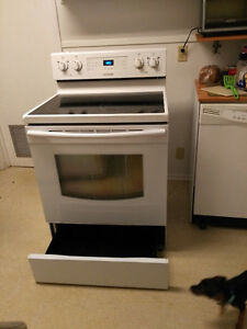 Samsung white oven with glass stovetop