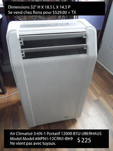 Air Climatisé Portable Air Conditioner 3 in 1 12,000 BTU