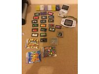 Nintendo Gameboy Advance 2 handheld consoles lots of games & accessories sell swap for computer desk