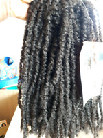 Synthetic hair extension weave
