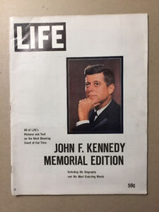 8 Life Magazines on John F. Kennedy from 1963-1965