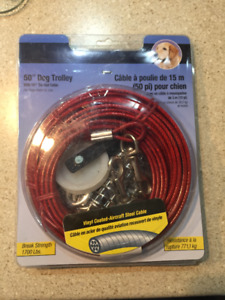 50 Foot Dog Trolley with 10 Foot Tie-out Cable (New)