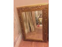 Mirror - gold and antique