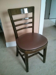 SET OF 23 WOOD CHAIRS WITH PADDED SEAT