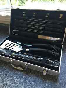 Stainless Steel BBQ Tool Set in Aluminum Case