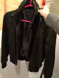 Black leather jacket from Italy