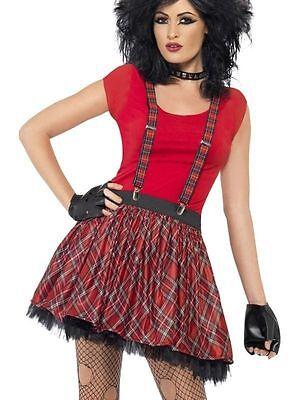 Adults Ladies Punk Instant Dress Up Kit 70s 80s Fancy Dress Costume -35520