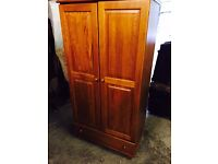 Free delivery 🎅 pine wardrobe with draw