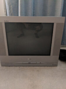 Truth flat TV with built-in DVD player