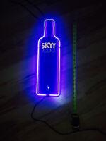 Neon Bar Light Sign Skyy Vodka