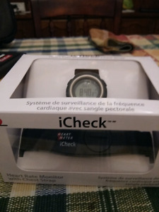 ICheck heart rate monitor watch with chest strap