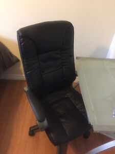 Black leather computer chair!