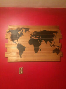 Painting of world map