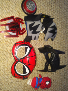 Spiderman batman ironman gadets and masks toddler sized