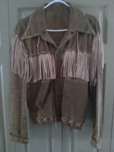 Men's fringe leather jacket