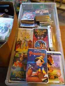 Lot of vhs tapes and player
