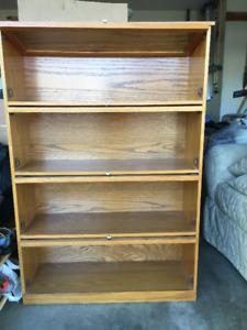 Barristers Solid Oak Book Case