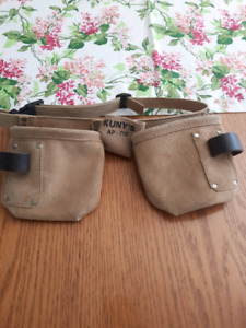 Youth leather tool belt.