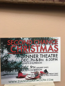 """""""Second Chance Christmas"""" - Dinner Theatre 6 pm Sunday Dec. 9th"""