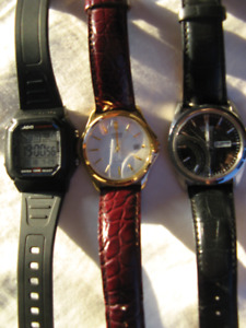 Casio and Citizen Men's Watches - 3 for the price of 2 used